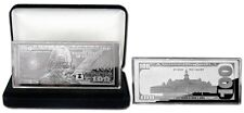 2 X 2018 DATED PROOF 4oz CURRENCY SILVER BARS FRANKLIN $100 + VELVET BOX + COA