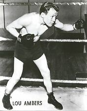LOU AMBERS 8X10 PHOTO BOXING PICTURE
