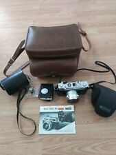 VTG YASHICA ELECTRO 35MM GSN,LEATHER CASE, YASHICA Lens set; Excellent  Conditio