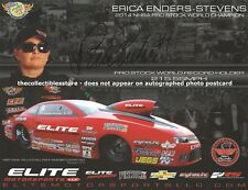 ERICA ENDERS STEVENS AUTOGRAPHED ELITE MOTORSPORTS NHRA PRO STOCK PHOTO POSTCARD