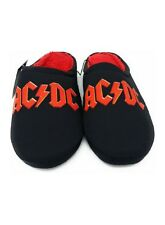 AC DC Men's Shoe Slippers Black Slip On ~ROCK N ROLL~ Size Large 11-12 NWT
