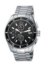 New! Esprit Men's Watch Velocity Chrono Silver Black ES102491004