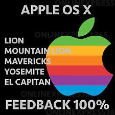 Mac USB OSX Lion Mountain Lion Mavericks Yosemite El Capitan macbook SIERRA HIGH