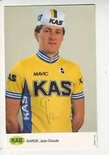 CYCLISME carte cycliste JEN CLAUDE GARDE  équipe KAS MAVIC signée