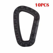 10Pcs D Plastic Ring Buckle Outdoor Carabiners Hook Backpack Durable Black