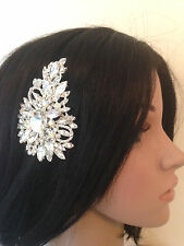 Sparkling AB and Clear Diamante Crystal Bridal Hair Comb