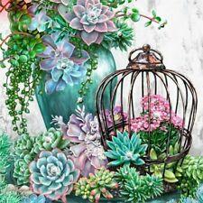 5D Diy Full Drill Diamond Painting Embroidery Cross Stitch Kits Green Plant Art