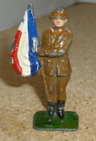 Vintage Lead / Metal - British Toy Soldier with flag