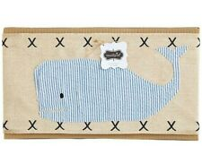 NEW MUD PIE WHALE PILLOW WRAP BLUE WHITE SEERSUCKER BABY BOY BEACH NAUTICAL