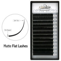 Lashview 0.15mm C Individual Matte Ellipse Flat Eyelash Extensions Split Tips
