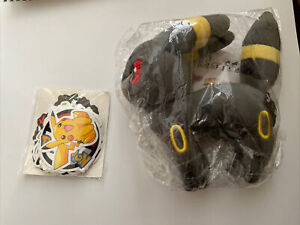 Pokemon Umbreon Eevee Evolution Plush Stuffed Animal Toy and pokémon stickers