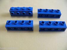 Lego 4 briques bleues set 10234 7632 60073 8668 / 4 blue brick modified w/ studs