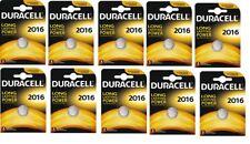 Envoi avec suivi - 10  CR2016, DL2016  DURACELL 3V piles Lithium DLC 2024