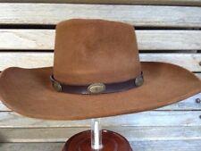 MEN'S JOHN B STETSON 3X BEAVER BROWN WESTERN COWBOY HAT SIZE 6 7/8 EURO 55 SMALL