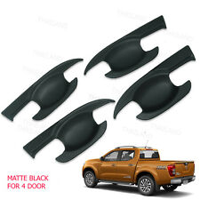 Door Handle Bowl Insert Cover Matte Black 4Pc Fits Nissan Np300 Navara 2012 - 17