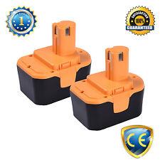 Two 14.4V Battery for Ryobi 1314702 130224010 1400144 1400656 1400671 2.0Amp-Hr