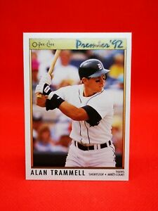 O-PEE-CHEE 1992 carte card Baseball MLB NM+/M Detroit Tigers #31 Alan Trammell