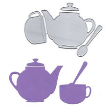 New listing Teapot and teacup Metal Cutting Dies Stencil for Diy Scrapbooking Album Card Te