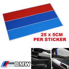 Color de alimentación M desempeño M Parrilla riñón 1 PS insignia de la Etiqueta Engomada Para BMW todos serie S7
