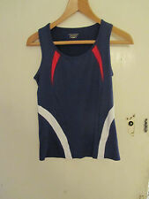 M&S Blue Stretch Performance Running / Fitness Top in Size 12