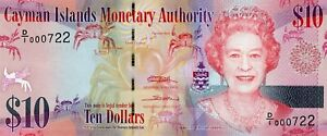 2010 $10 CAYMAN ISLANDS GEM CU BANKNOTE!!..STARTS@ 2.99