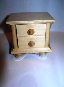 Dollhouse Furniture Bedside Table Rustic Nature Rülke 22266