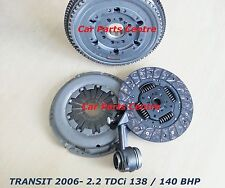 FOR FORD TRANSIT 2.2 TDCi DUAL MASS FLYWHEEL CLUTCH KIT RELEASE CSC BEARING 06-