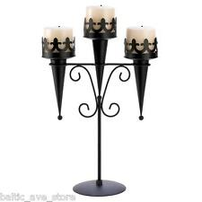 10 New Gothic Black Wedding Decor Table Centerpiece Candle Stand Set Medievil