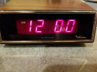 RARE Vintage Sears Roebuck Tradition Alarm AM Only Alarm Clock TESTED Works Good