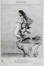 Honore Daumier France 1808-1879 Lithograph Histoire Ancienne No 49 La Mort