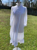 Vintage Moon Glow Dress Boho Prairie White Eyelet Embroidered Dress