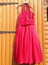 STUNNING MONSOON ORIANE RED 100% COTTON 50's SUMMER DRESS Marlyn Monroe Swing 14