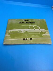 USED FIAT 132 OWNERS MANUAL HANDBOOK BOOK 1977 PUBLISHED - 1st Edition