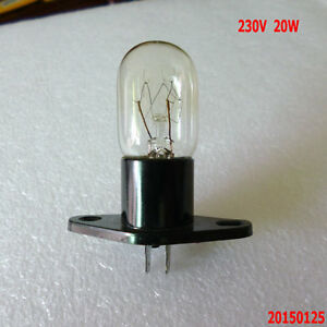 Microwave Oven Globe Lamp Bulb Straight Terminals 230V 20W T170 For Many Brands