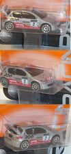 Majorette 212084008 Peugeot 206 WRC (Nr. 205B), silber, clarion / 2, ca. 1:57