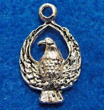50Pcs. WHOLESALE Tibetan Silver NICE EAGLE Hawk Bird Pendants Charms Drops Q0823