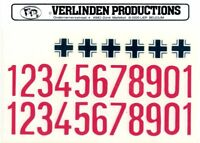 Verlinden Productions 120mm 1:16 WWII German Vehicle Markings - Decal Sheet #867