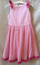 I PINCO PALLINOL Pink and Silver Sleeveless Striped Dress~12~Italy~Retails $500+