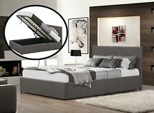 4FT Small Double Grey Ottoman Bed With Memory Foam Mattress Included