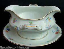 Vintage 1970's Rosenthal Stylized Floral Pattern Gravy Sauce Boat & Stand in VGC