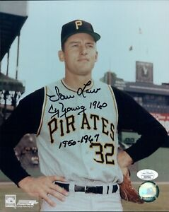 Vern Law Pittsburgh Pirates Signed 8x10 Glossy Photo JSA Authenticated