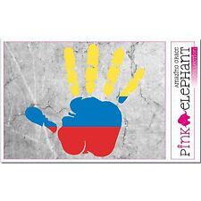 Colombie - main paume Doigt Imprimer étiquette Drapeau DESSIN Columbia bandera