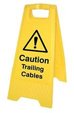 Caledonia Signs 58548 Floor Sign, Caution Trailing Cables, Free-Standing