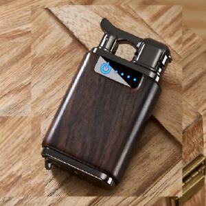 USB LIGHTER. plastic Wood effect  Case DOUBLE ARC ,PLASMA . WIND PROOF +BOX