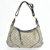 Louis Vuitton Manon PM M95620 Monogram Mini Lin One Shoulder Hand Bag Purse Gray