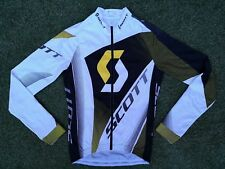 Authentic Scott Racing Cycling Light Fleece Lined Long Sleeve Bike Jersey Small