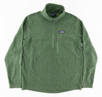Patagonia Mens Large Oakes 1/4 Zip Pullover Fleece Jacket Sweater Green 27325
