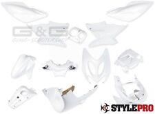 Verkleidung Verkleidungsset 12 Teilig Weiß Perlmutt für Yamaha Aerox MBK Nitro