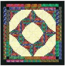 Ezy Quilt Kit/Through the Batik Door Log Cabin/Pre-cut Fabrics Ready To Sew!!