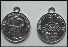 PEWTER CHARM #363 BRASS RAZOO Mythical Aussie Coin (40mm) double sided 1 bail